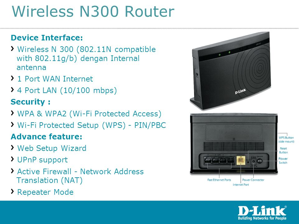 Wireless N300 Router15 rev S1 Device Interface: