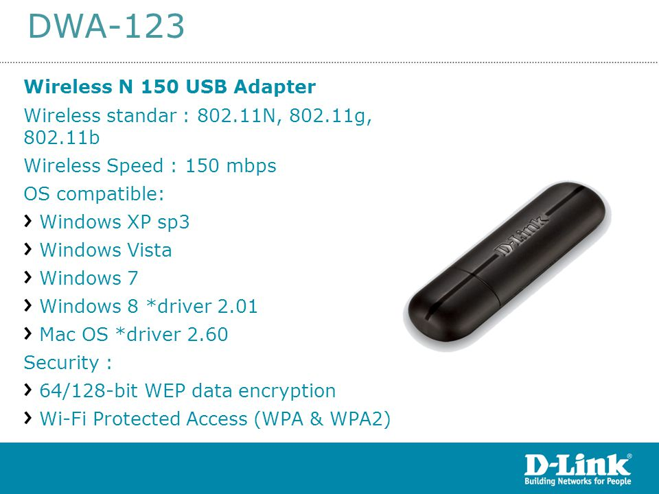 DWA-123 Wireless N 150 USB Adapter