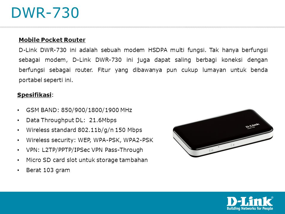DWR-730 Mobile Pocket Router