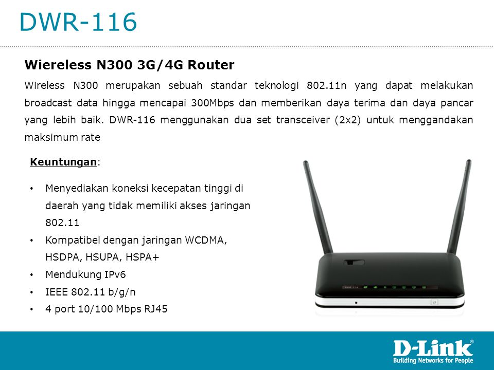 DWR-116 Wiereless N300 3G/4G Router