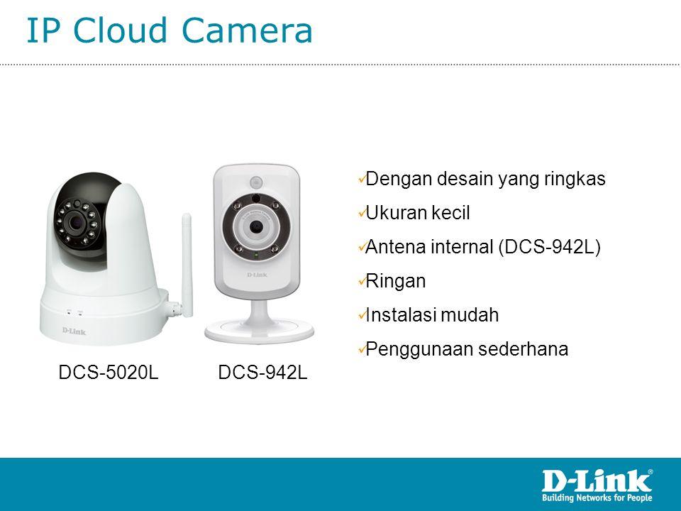 IP Cloud Camera Dengan desain yang ringkas Ukuran kecil