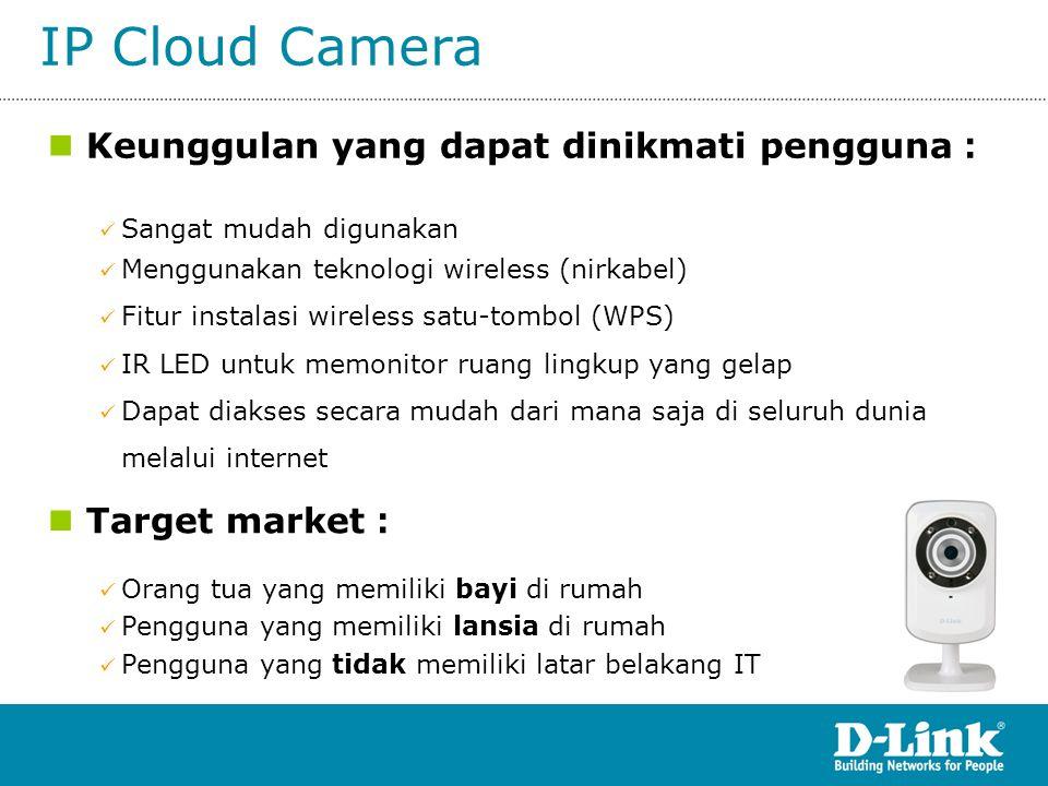 IP Cloud Camera Keunggulan yang dapat dinikmati pengguna: