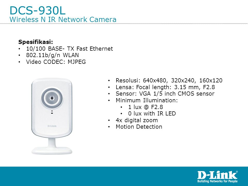 DCS-930L Wireless N IR Network Camera