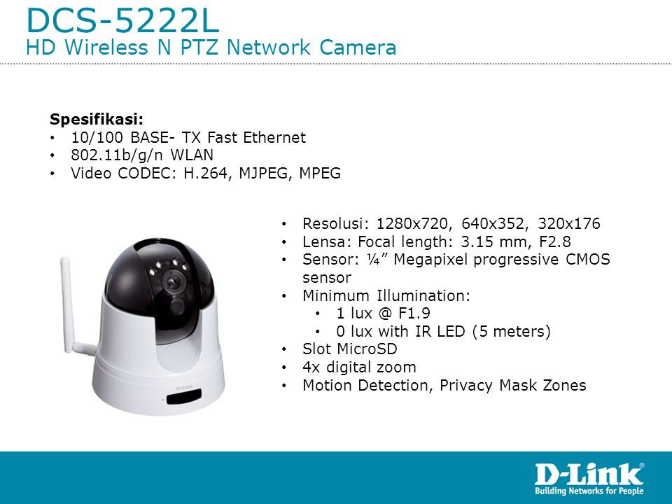 DCS-5222L HD Wireless N PTZ Network Camera