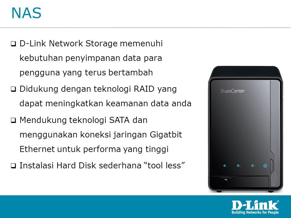 NAS D-Link Network Storage memenuhi kebutuhan penyimpanan data para pengguna yang terus bertambah.