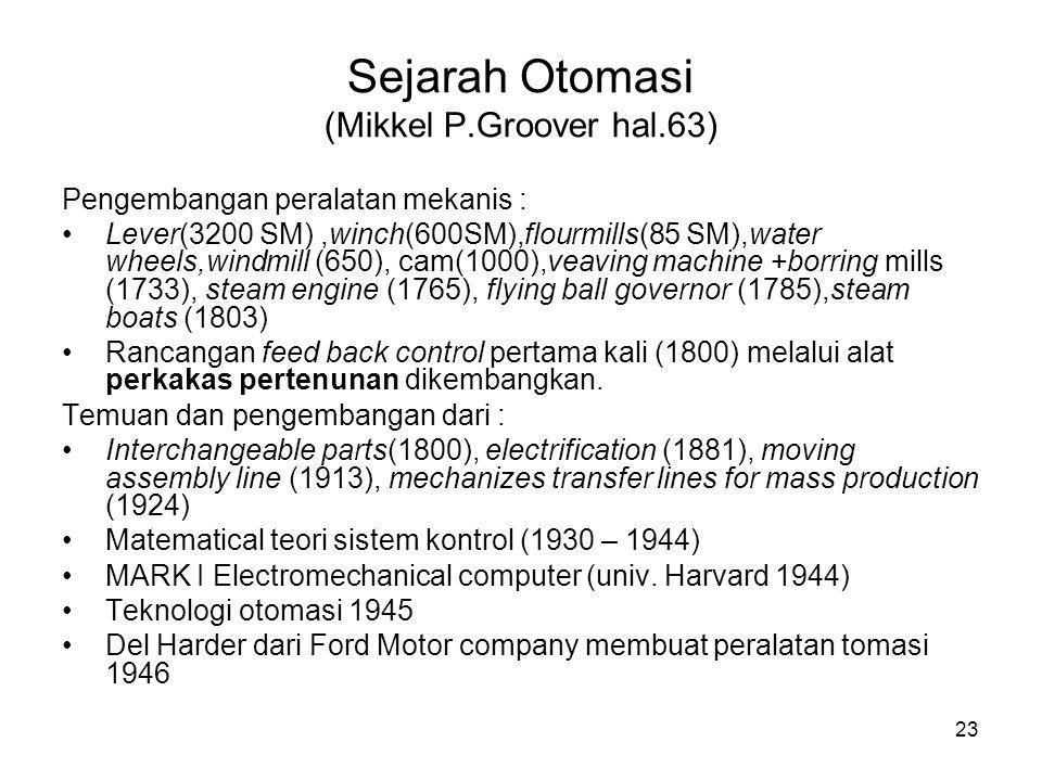 Sejarah Otomasi (Mikkel P.Groover hal.63)