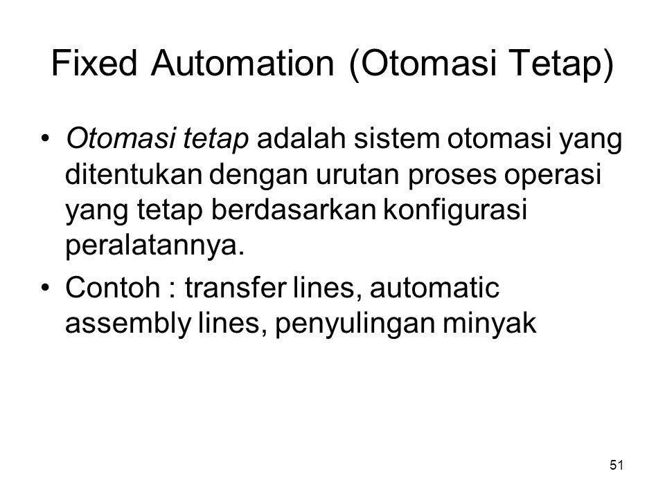 Fixed Automation (Otomasi Tetap)‏