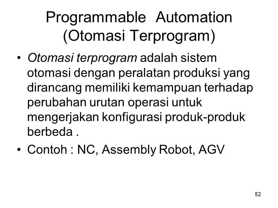 Programmable Automation (Otomasi Terprogram)‏