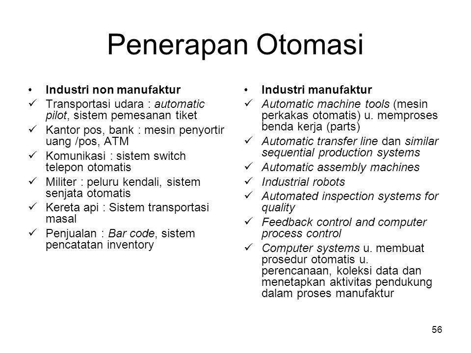 Penerapan Otomasi Industri non manufaktur