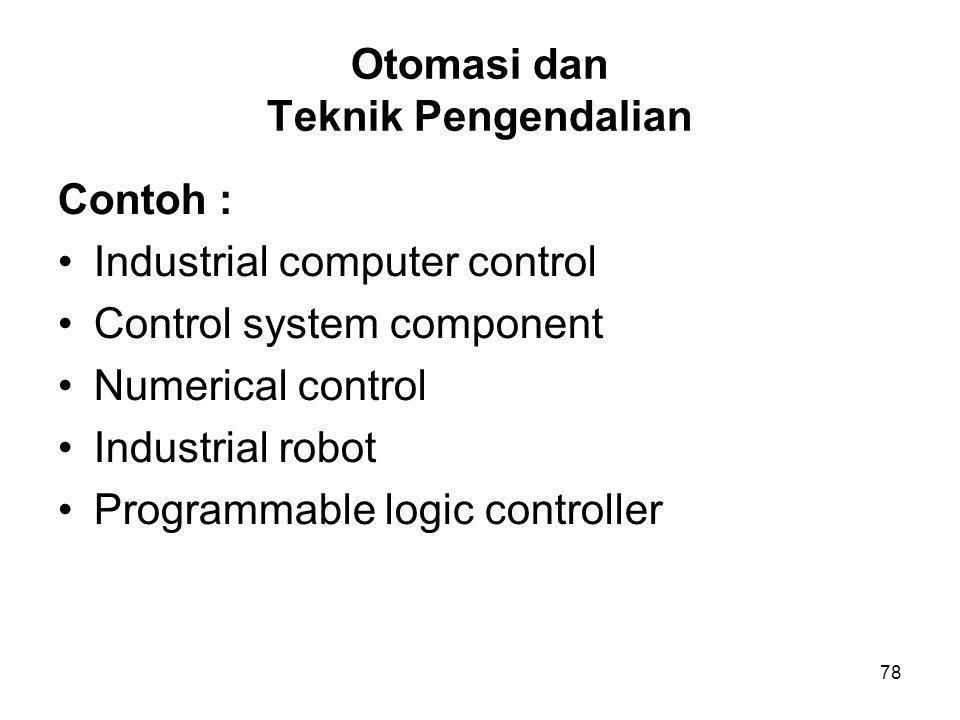 Otomasi dan Teknik Pengendalian