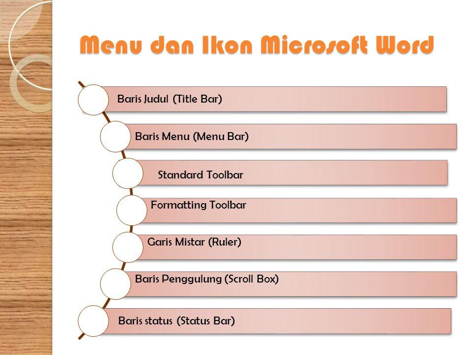 Menu dan Ikon Microsoft Word