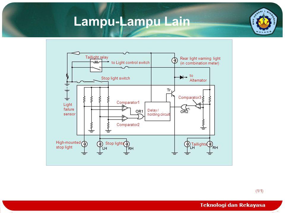 Lampu-Lampu Lain Teknologi dan Rekayasa Taillight relay