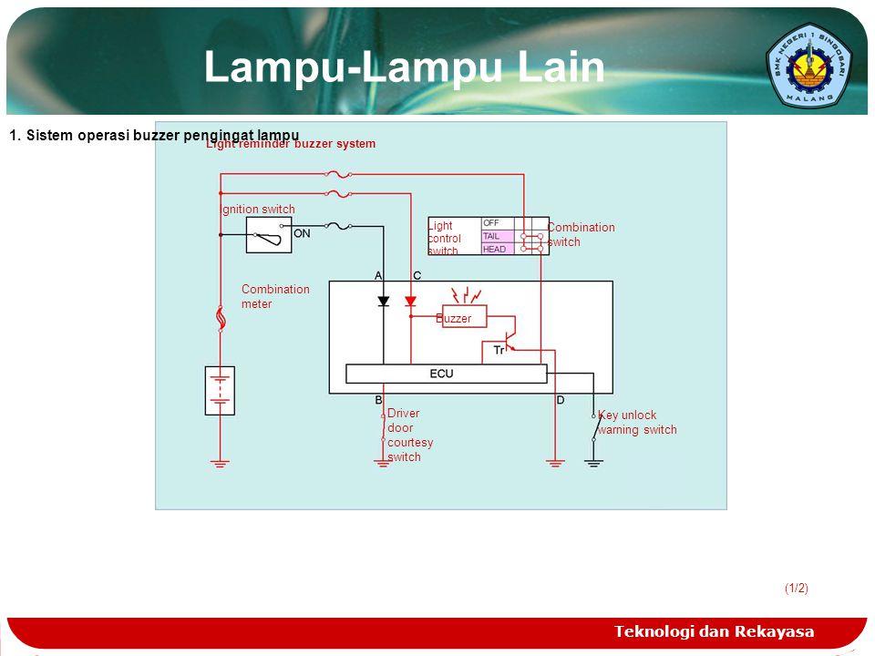 Lampu-Lampu Lain 1. Sistem operasi buzzer pengingat lampu
