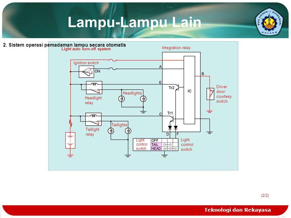 Lampu-Lampu Lain 2. Sistem operasi pemadaman lampu secara otomatis