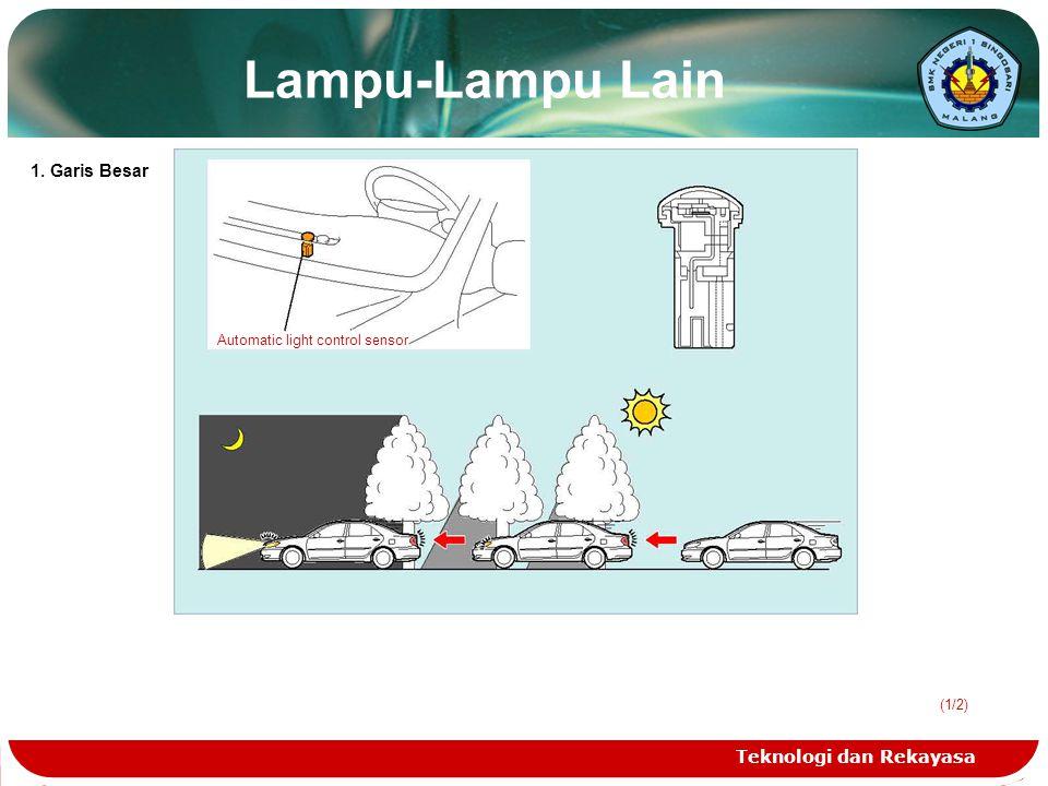 Lampu-Lampu Lain 1. Garis Besar Teknologi dan Rekayasa