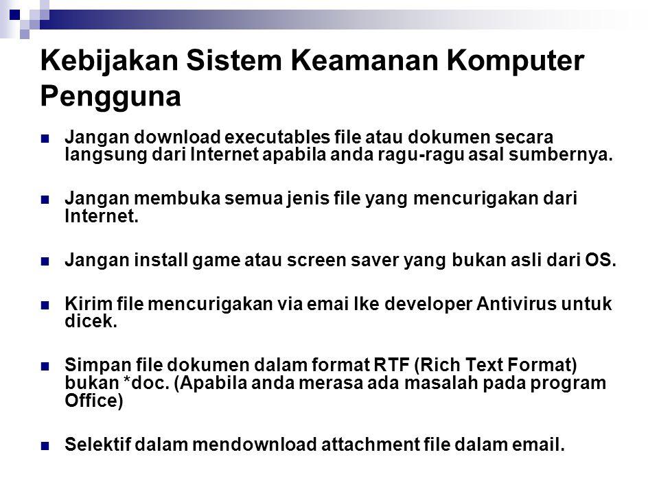 Kebijakan Sistem Keamanan Komputer Pengguna