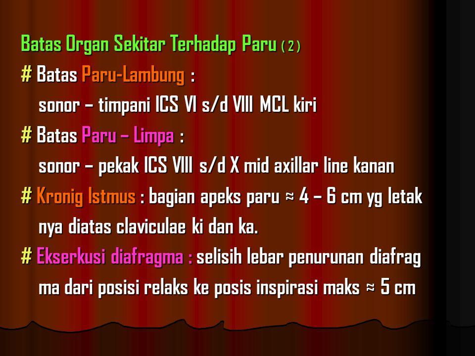 Batas Organ Sekitar Terhadap Paru ( 2 )