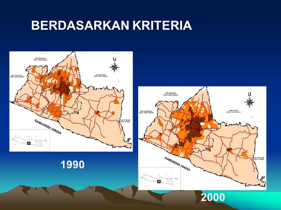 BERDASARKAN KRITERIA 1990 2000