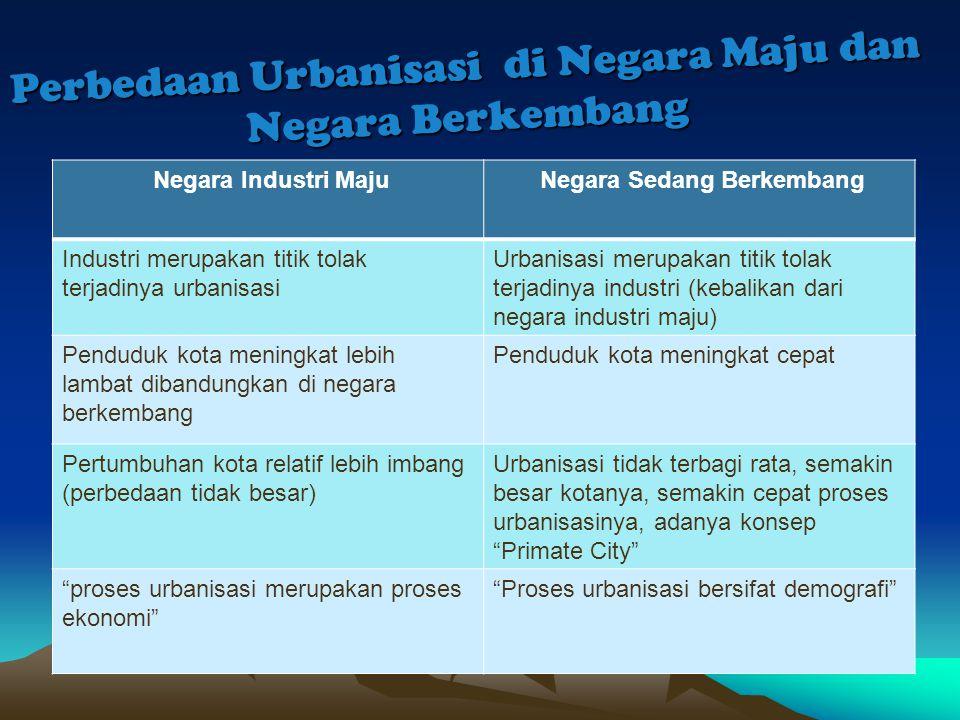 Perbedaan Urbanisasi di Negara Maju dan Negara Berkembang