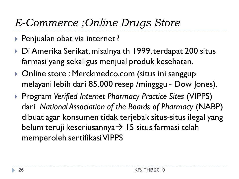 E-Commerce ;Online Drugs Store