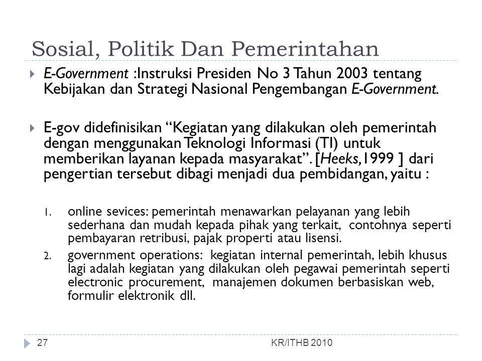 Sosial, Politik Dan Pemerintahan