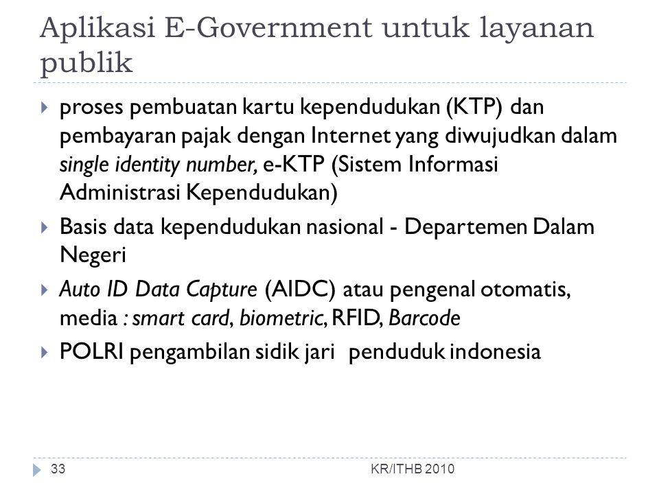 Aplikasi E-Government untuk layanan publik