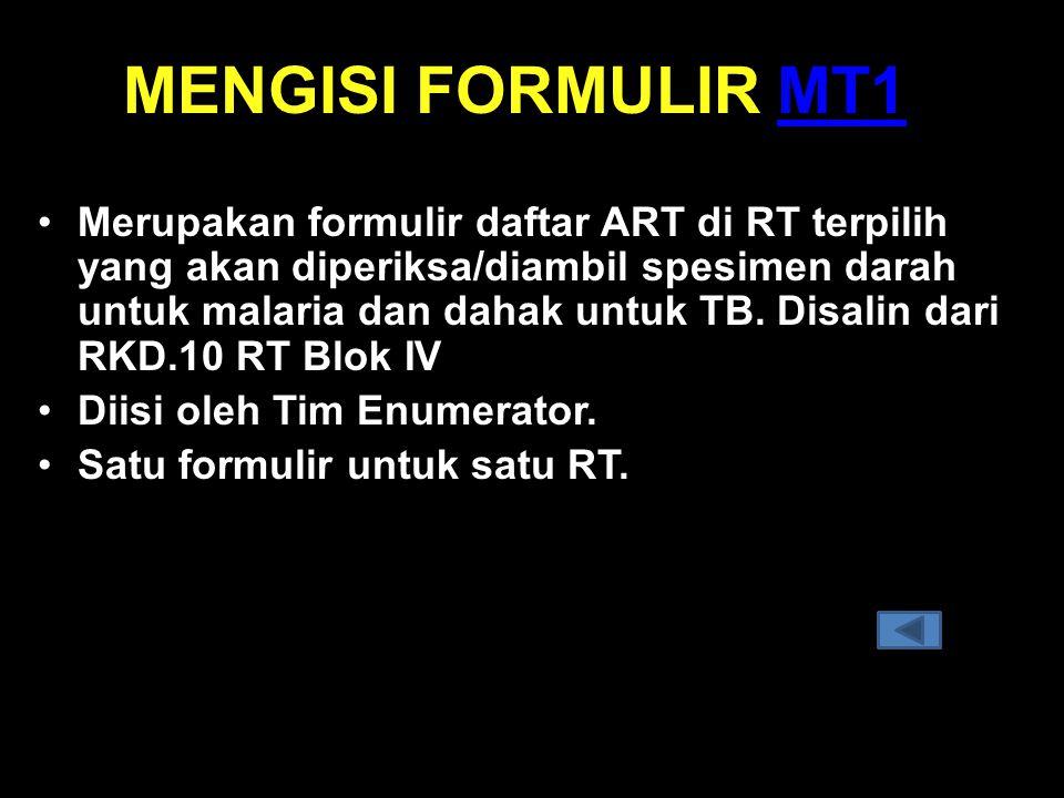 MENGISI FORMULIR MT1