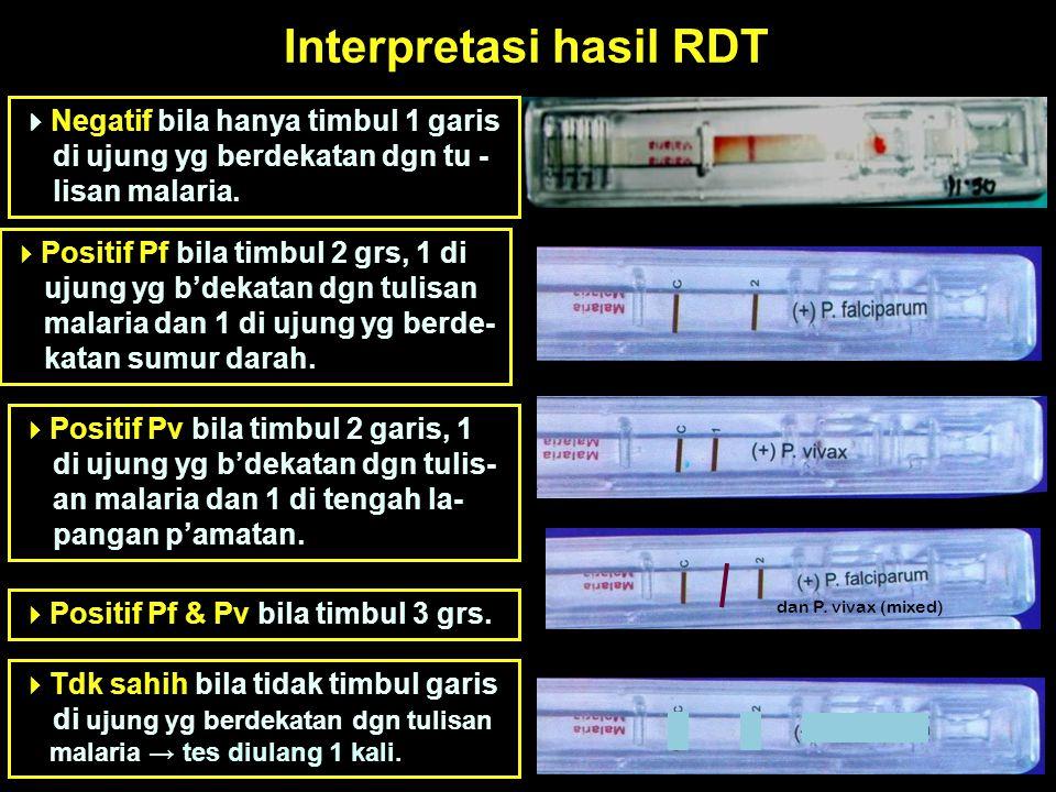Interpretasi hasil RDT