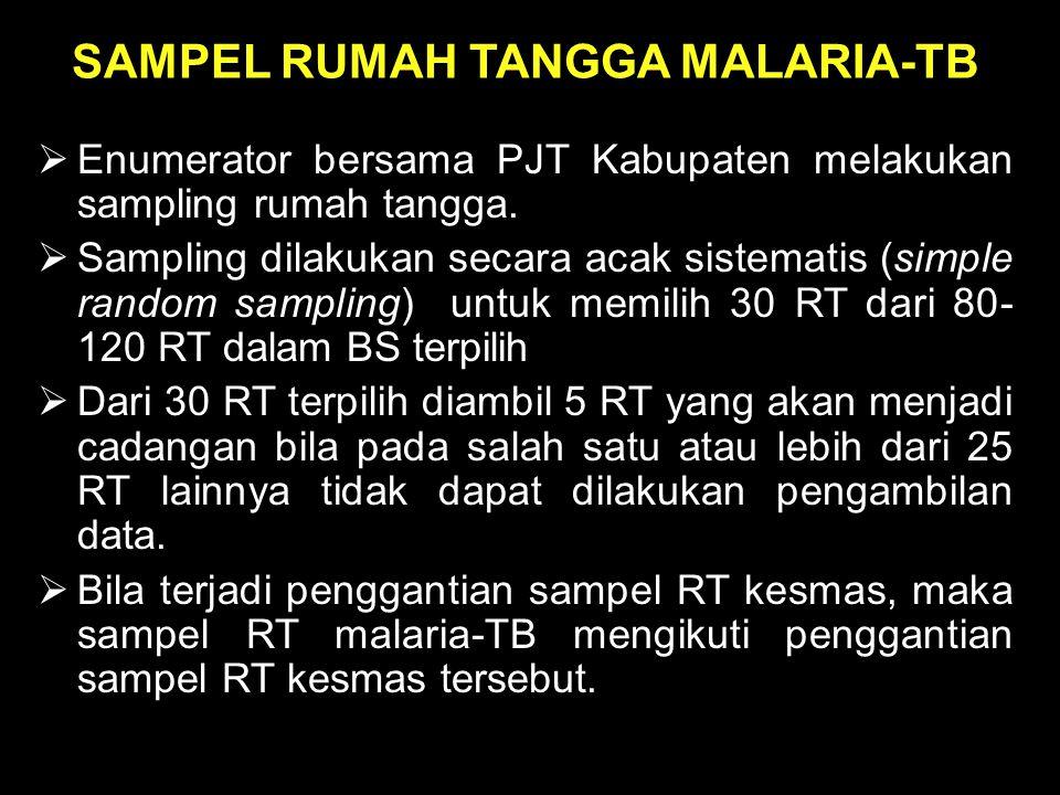 SAMPEL RUMAH TANGGA MALARIA-TB