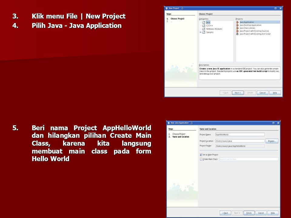 3. Klik menu File | New Project