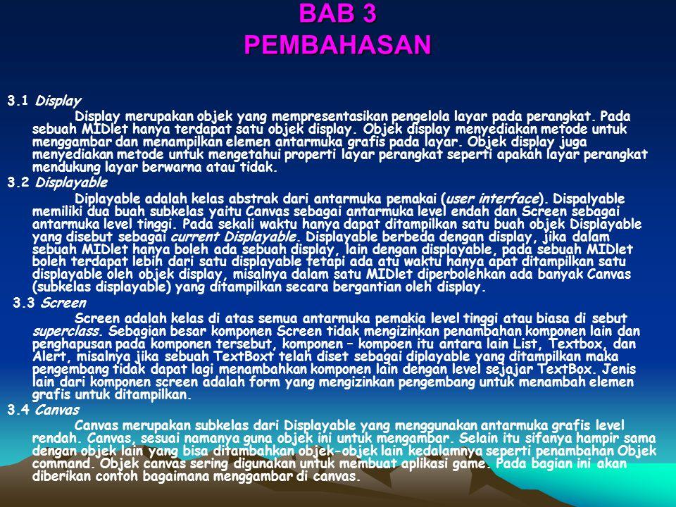 BAB 3 PEMBAHASAN 3.1 Display