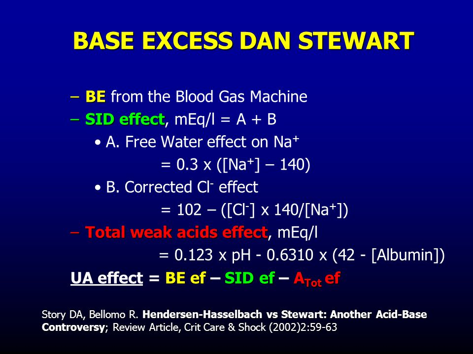 BASE EXCESS DAN STEWART