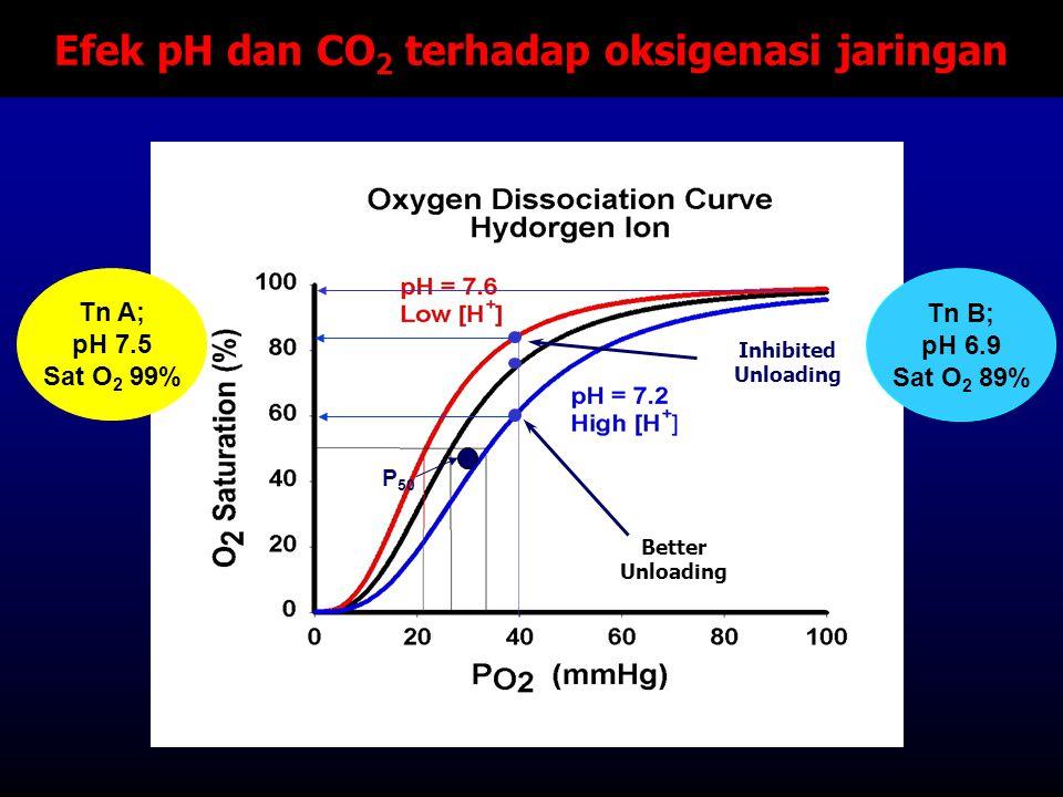 Efek pH dan CO2 terhadap oksigenasi jaringan