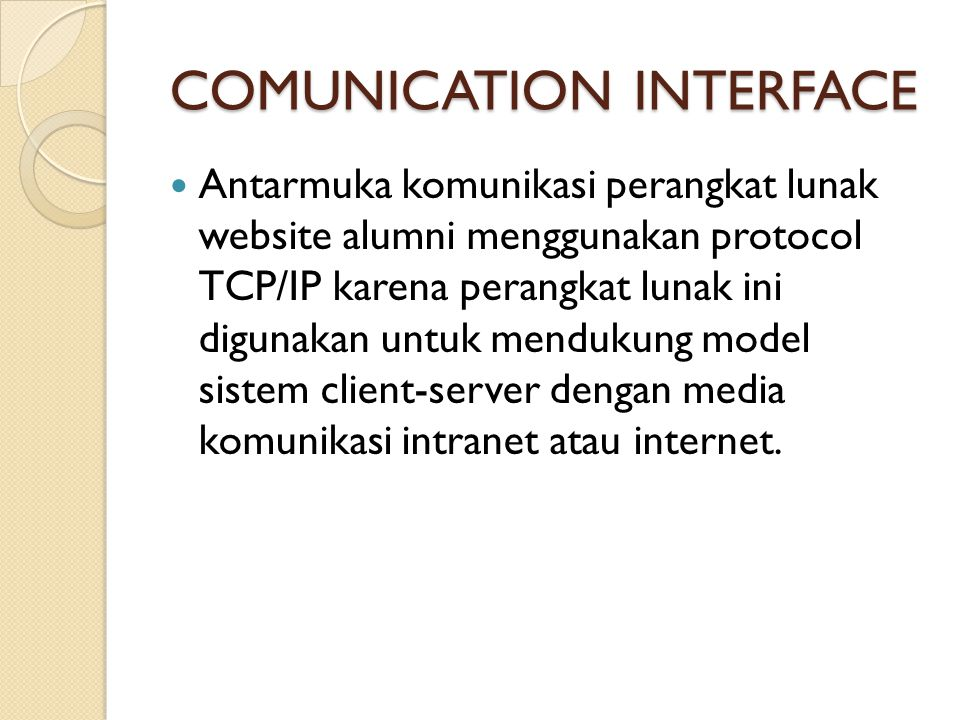 COMUNICATION INTERFACE