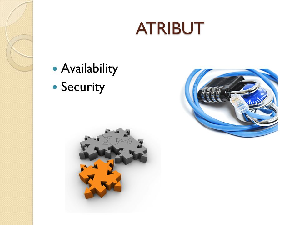 ATRIBUT Availability Security