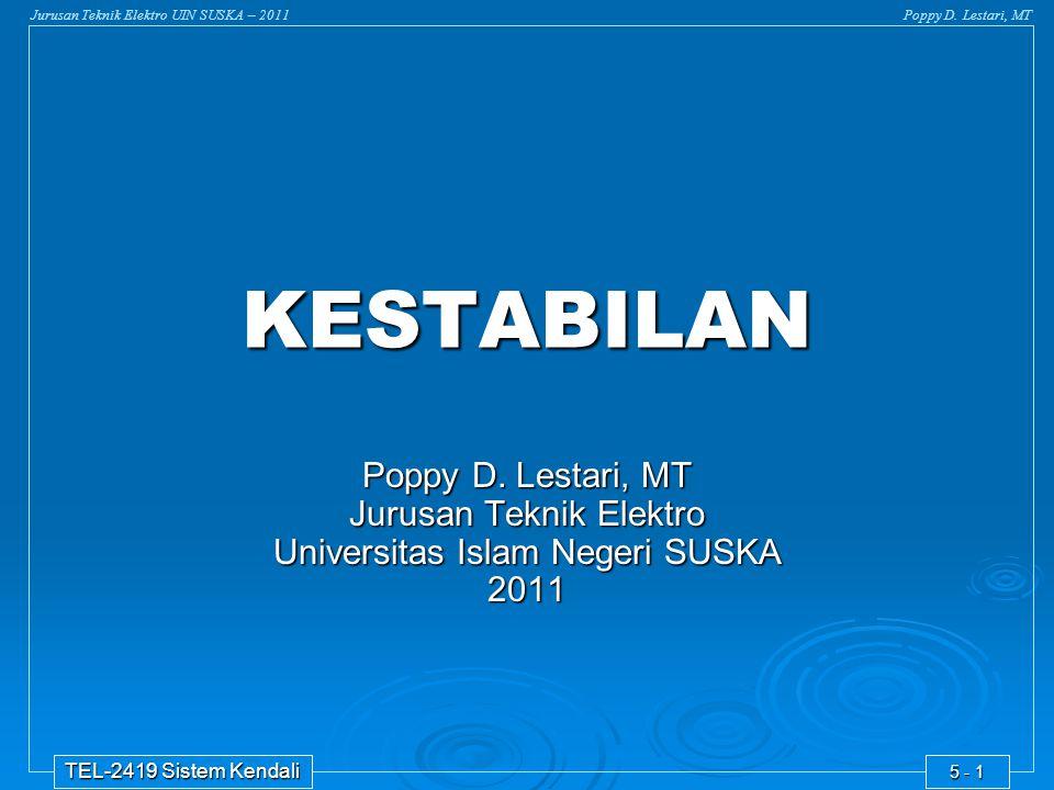 KESTABILAN Poppy D. Lestari, MT Jurusan Teknik Elektro