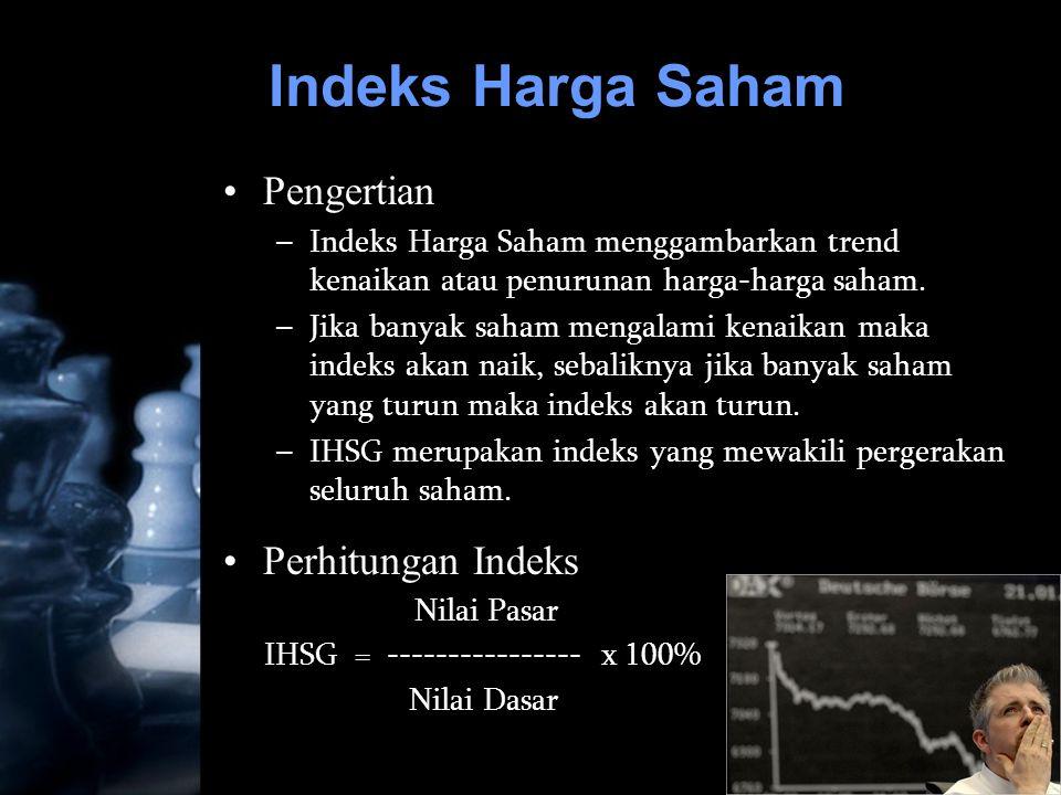 Indeks Harga Saham Pengertian Perhitungan Indeks