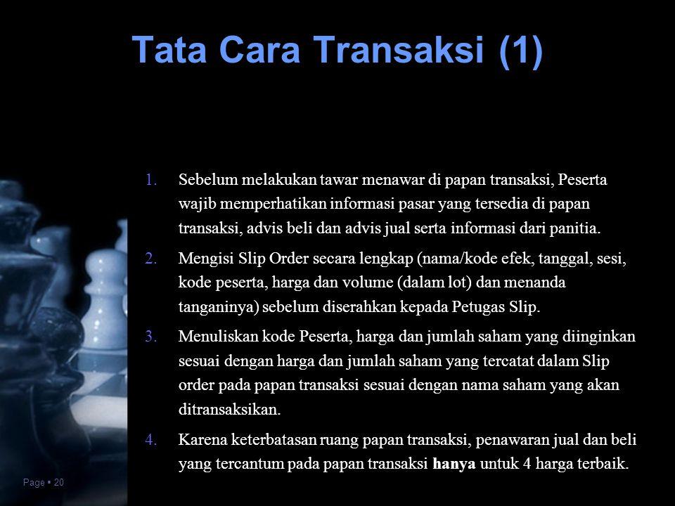 Tata Cara Transaksi (1)