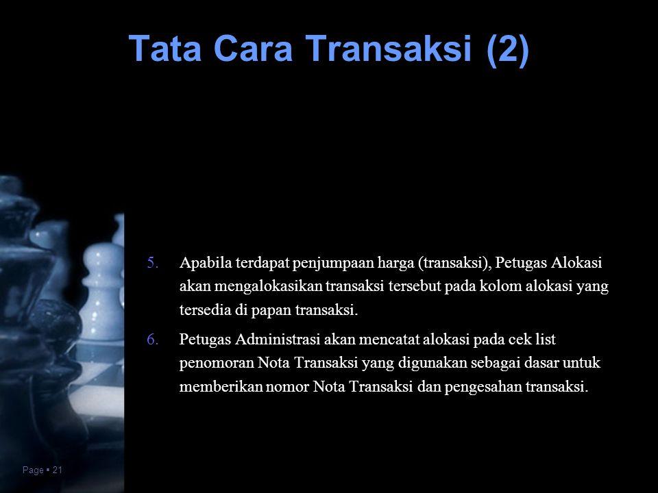 Tata Cara Transaksi (2)