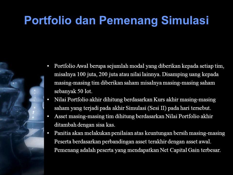 Portfolio dan Pemenang Simulasi