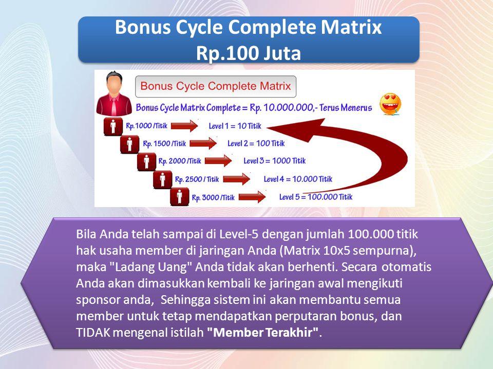 Bonus Cycle Complete Matrix