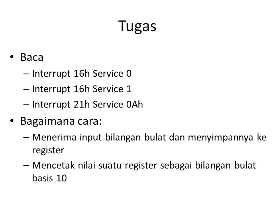 Tugas Baca Bagaimana cara: Interrupt 16h Service 0