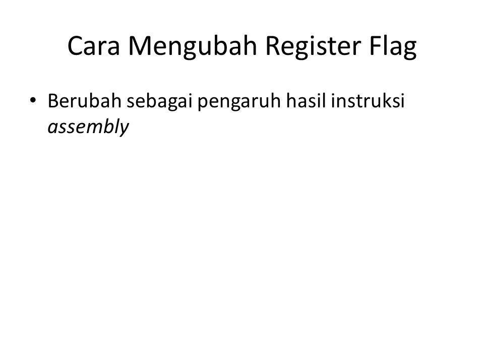 Cara Mengubah Register Flag