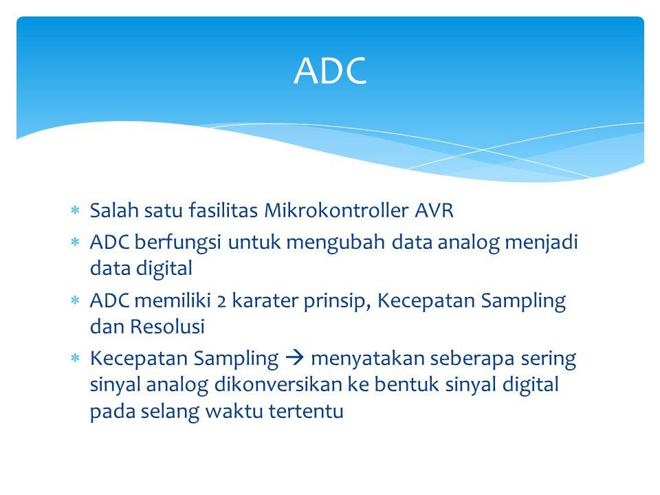 ADC Salah satu fasilitas Mikrokontroller AVR