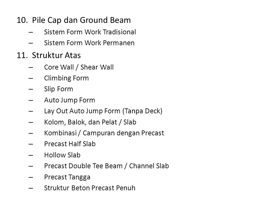 Pile Cap dan Ground Beam