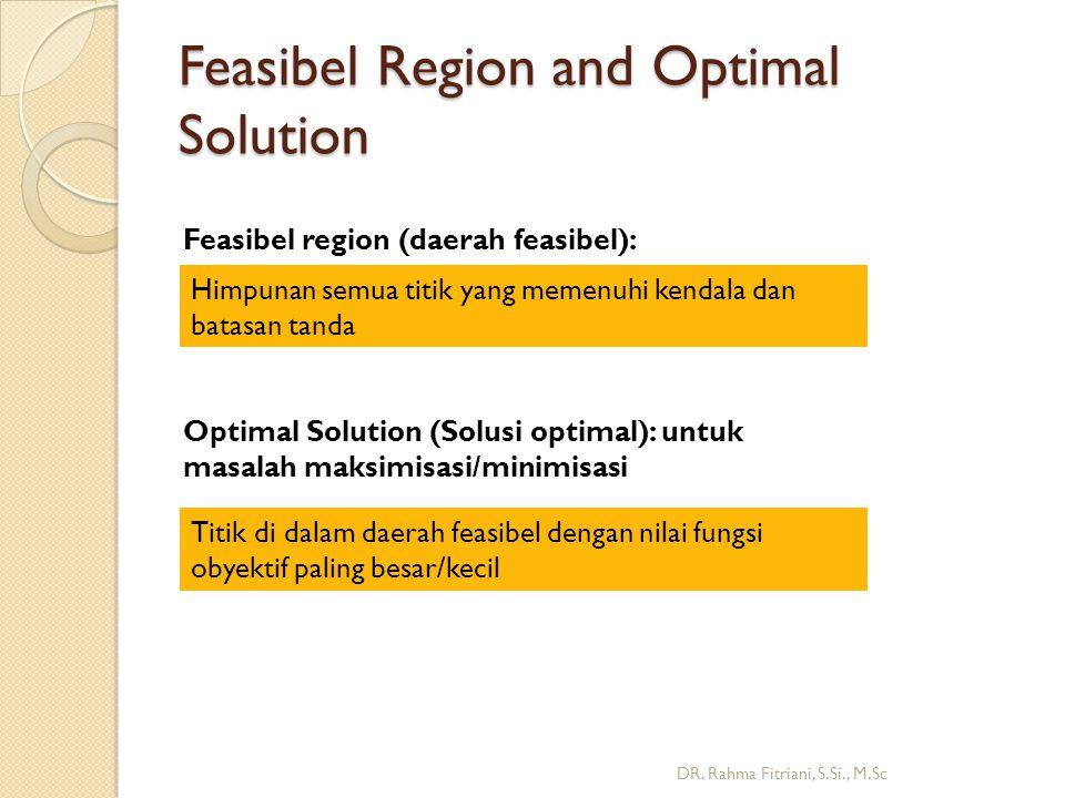 Feasibel Region and Optimal Solution