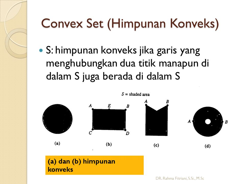 Convex Set (Himpunan Konveks)