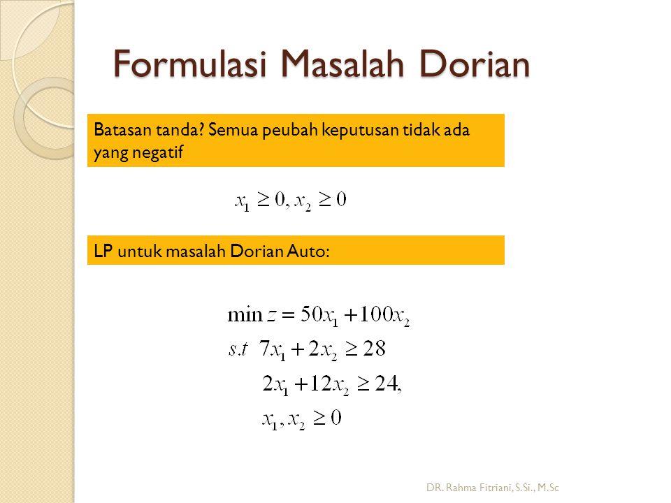 Formulasi Masalah Dorian