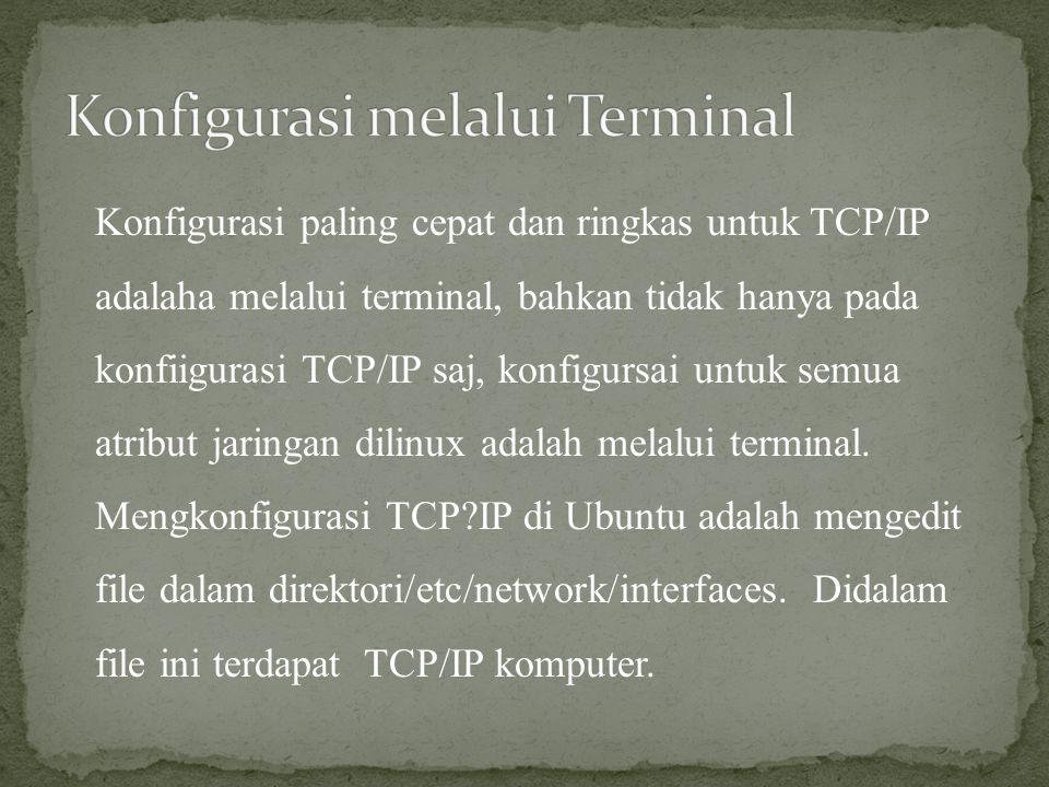 Konfigurasi melalui Terminal