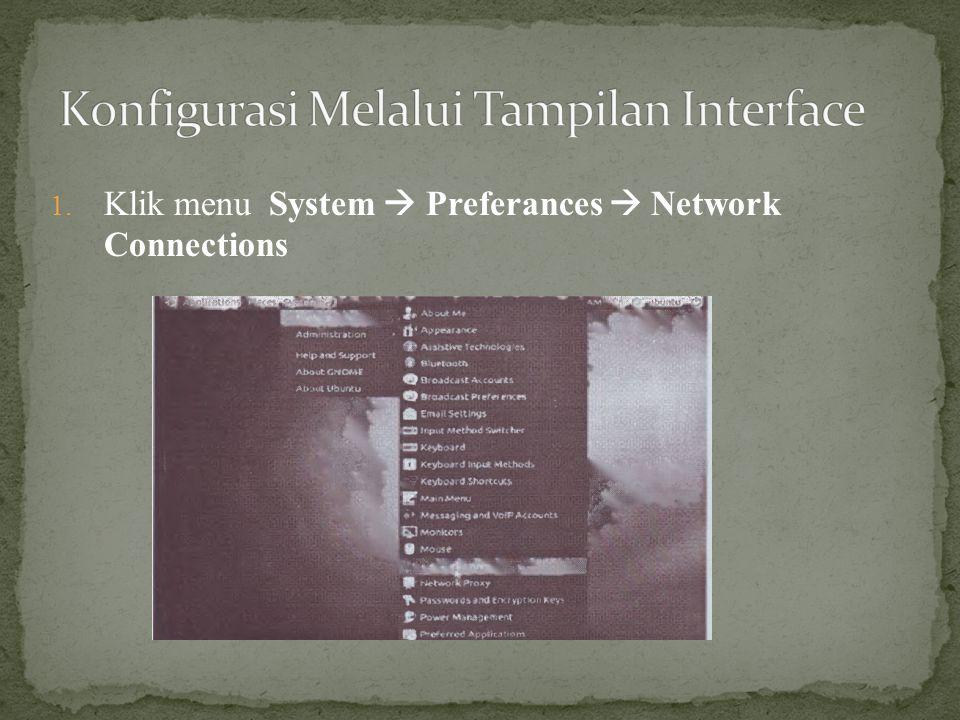 Konfigurasi Melalui Tampilan Interface